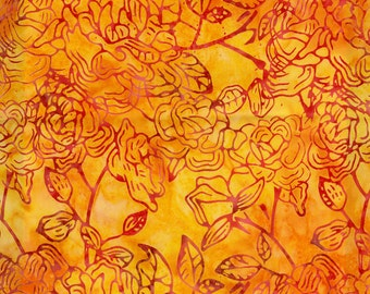 Sunset Tonga Harvest Batiks Timeless Treasures Quilt Fabric by the 1/2 yard