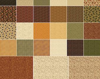 """Pumpkin Patch Benartex  Charm Pack Quilt Fabric  42   5"""""""