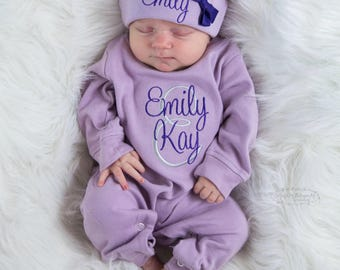 8bb3016828a0a Baby Girl Coming Home Outfit Baby Girl Clothes Newborn Girl Coming Home Outfit  Newborn Girl Outfit Baby Girl Winter Clothes Newborn girl Hat