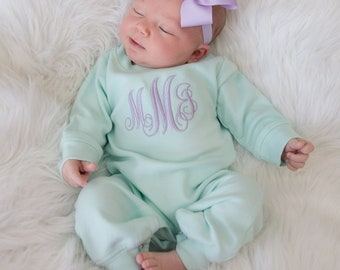 c1489651ba4 Baby Girl Coming Home Outfit Baby Girl Clothes Baby Girl Outfit Baby Girl  Gift Newborn Girl Clothes Newborn Girl Outfit Monogrammed Gift