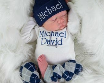 a6be43378fca2 Baby Boy Coming Home Outfit Baby Boy Clothes Baby Boy Clothes Baby Boy Gift  Newborn Hat Baby Boy Photo Outfit Newborn Boy Outfit