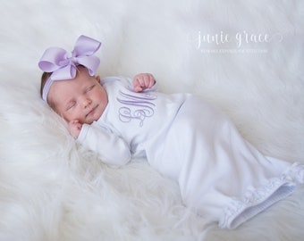 e32064c887d82 Baby Girl Coming Home Outfit Baby Girl Clothes Baby Girl Gift Newborn Girl  Clothes Newborn Girl Outfit Monogrammed Baby Girl Outfit