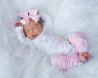 022d8d7aff82e Newborn girl Take home outfit.Baby girl coming home outfit.Baby girls first  outfit.Baptism girl.Girl hospital outfit.