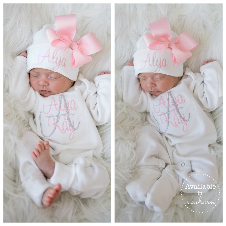 4b790386d64f8 Baby Girl Coming Home Outfit Baby Girl Clothes Newborn Girl Coming Home  Outfit Baby Girl Romper Newborn Girl Clothes Baby Girl Gift