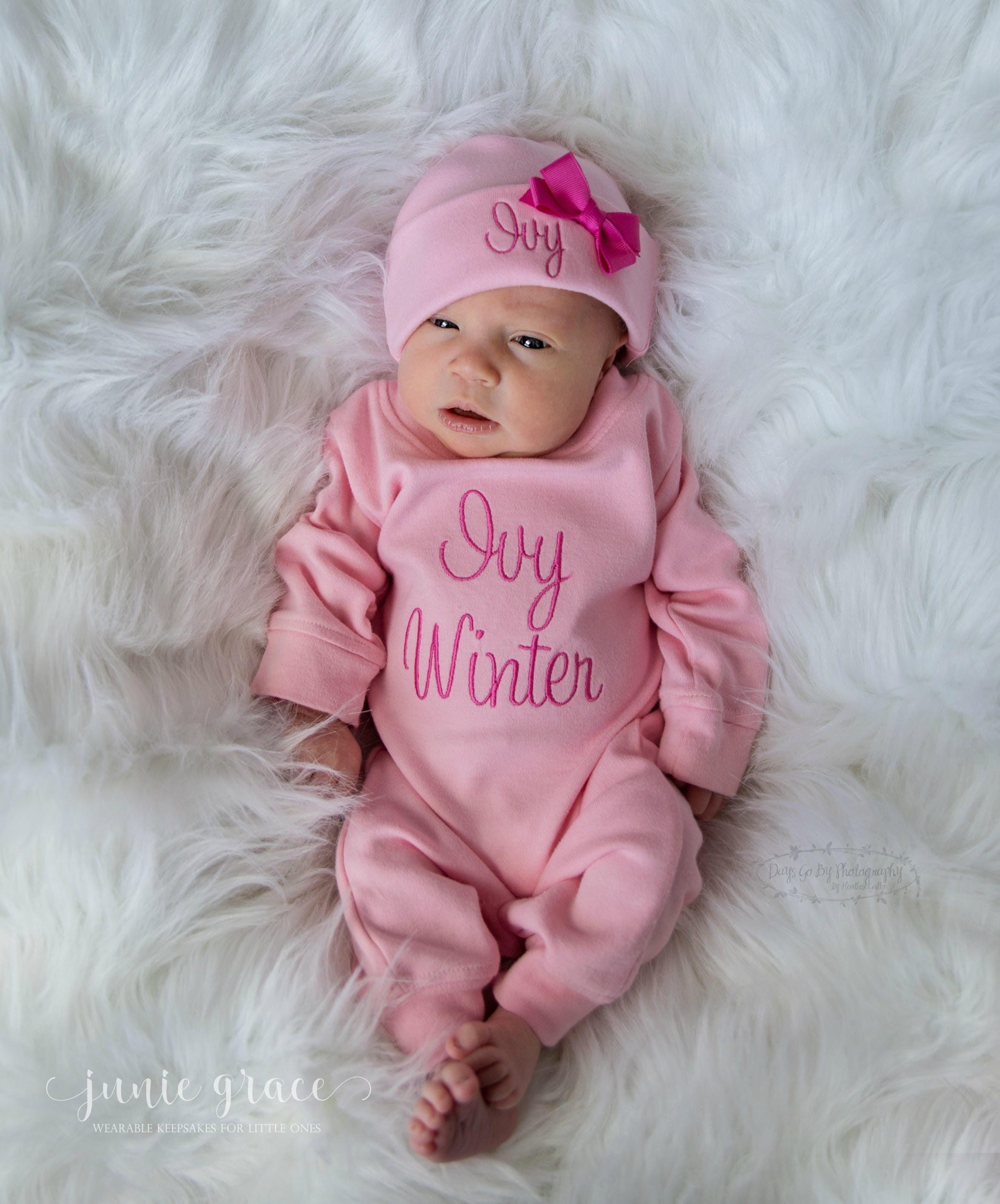 Newborn Girl Coming Home Outfit Newborn Girl Outfit Baby Girl Coming ...