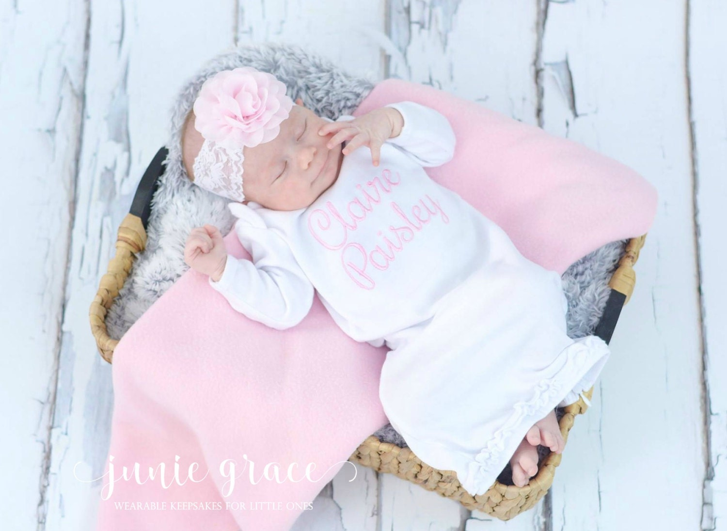 Newborn Girl Coming Home Outfit Newborn Baby Girl Clothes Newborn ...