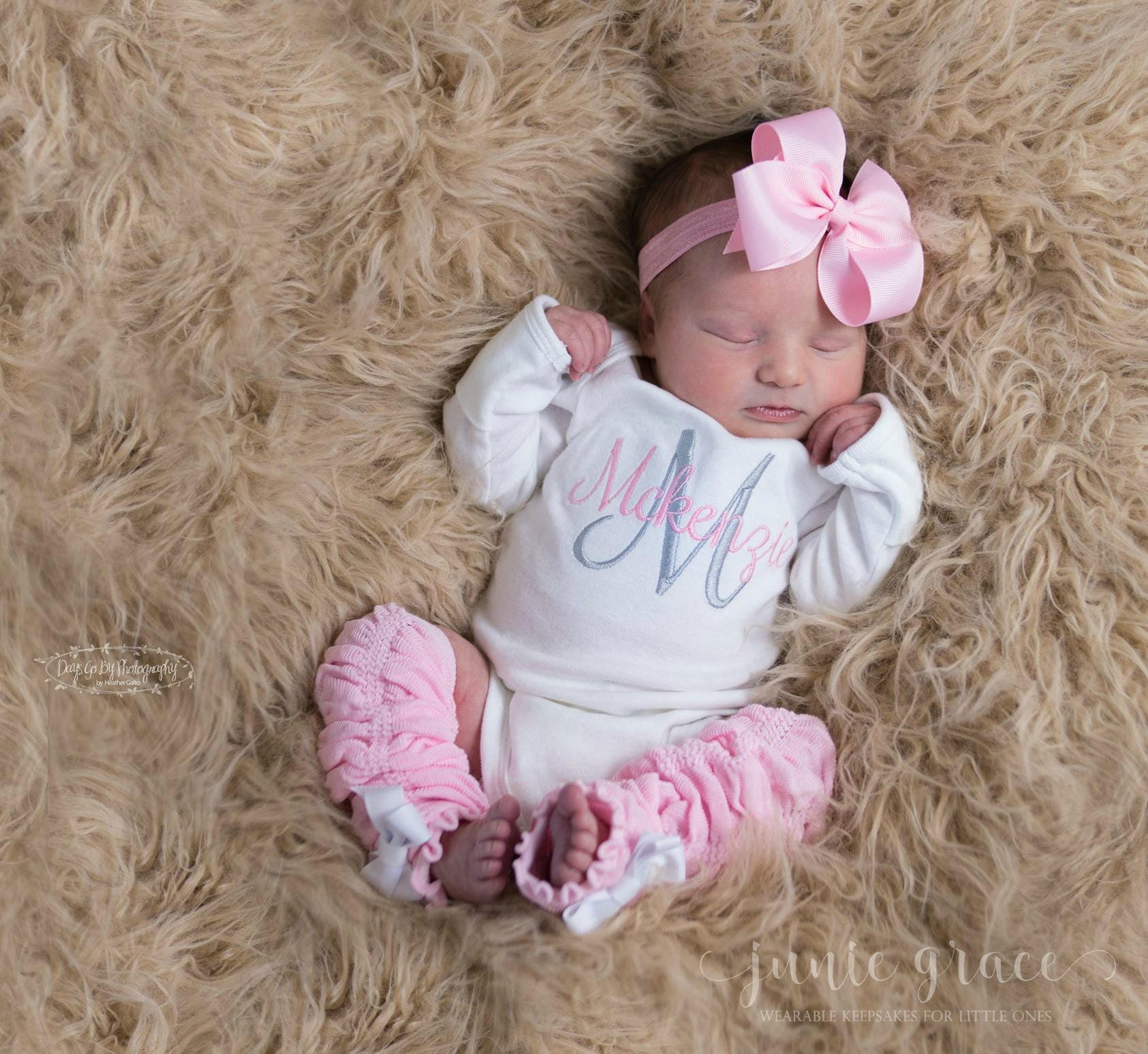 a47cbd9c60363 Baby Girl Coming Home Outfit Baby Girl Clothes Newborn Girl | Etsy