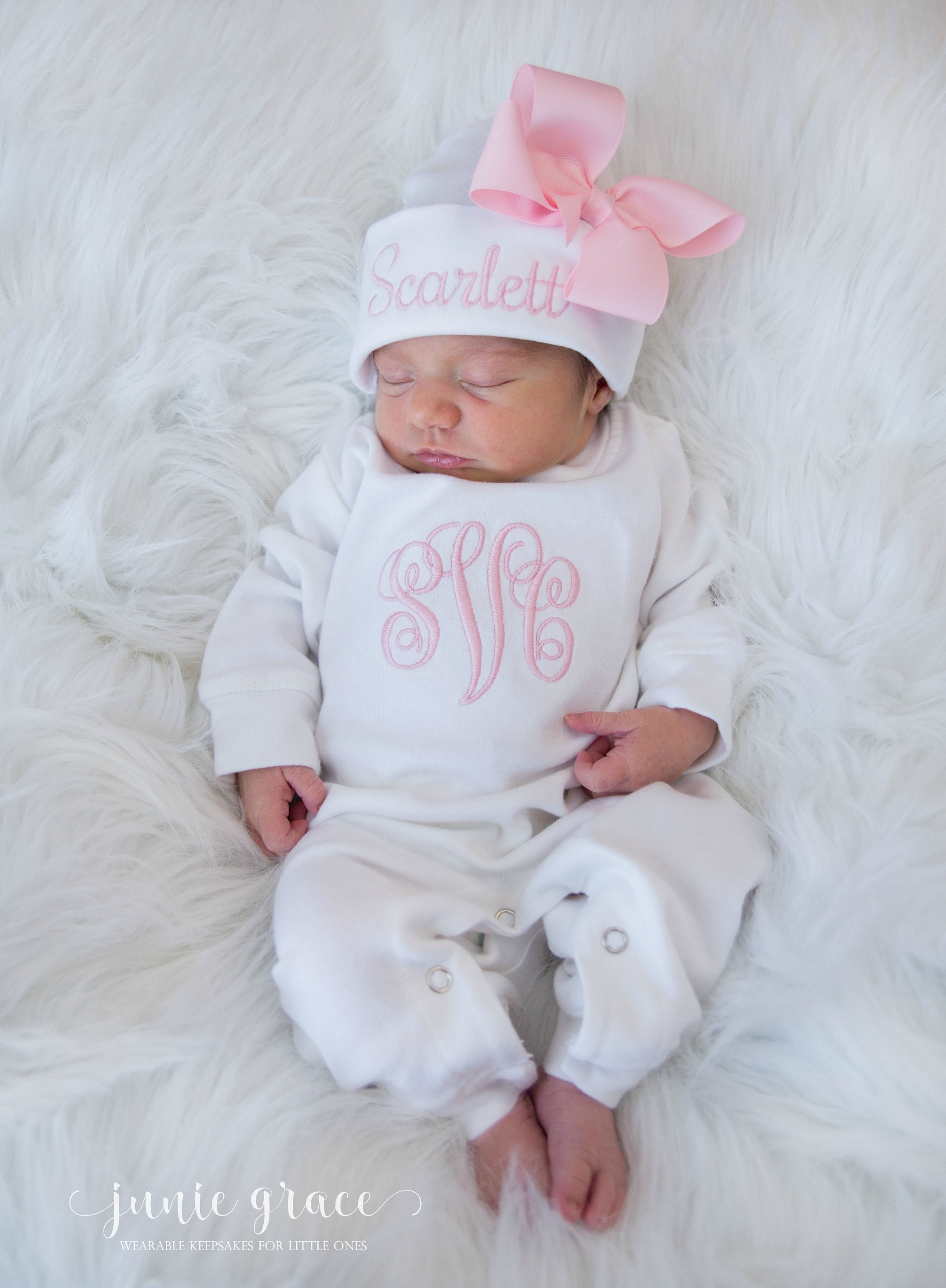 4e2ee4733 Newborn Girl Coming Home Outfit Newborn Girl Outfit | Etsy