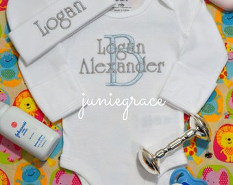 Baby Boy Coming Home Outfit Baby Boy Clothes Baby Boy Gift Newborn Boy Outfit Take Home Outfit  Baby Boy Bring Home Outfit  Newborn Boy Hat