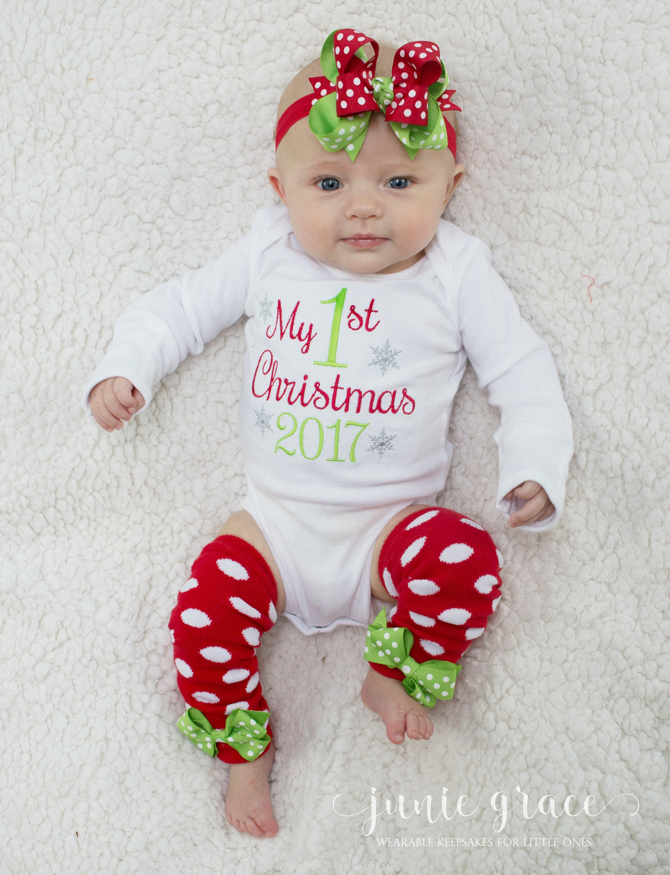 Newborn Girl First Christmas Outfit My First Christmas Outfit Baby ...