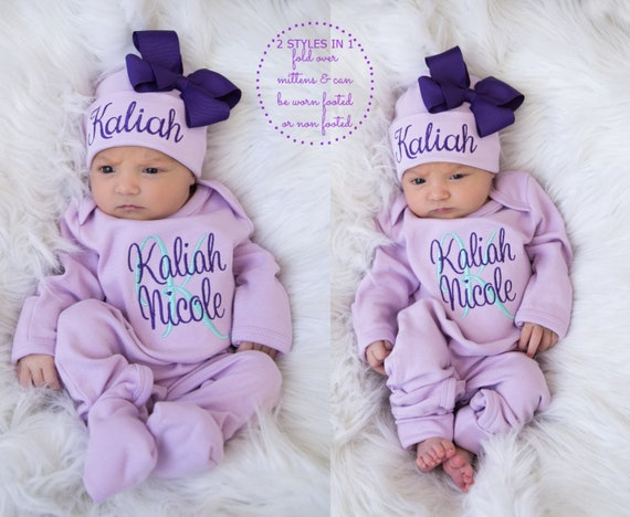 Baby Girl Coming Home Outfit Baby Girl Clothes Newborn Girl Coming Home Outfit Baby Girl Romper Newborn Girl Clothes Baby Girl Gift