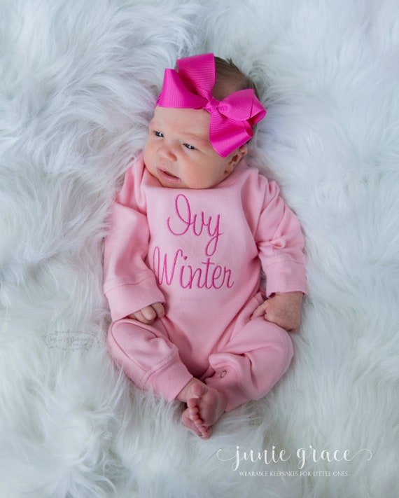 0b98922e83f87 Newborn Girl Coming Home Outfit Newborn Girl Outfit Baby Girl