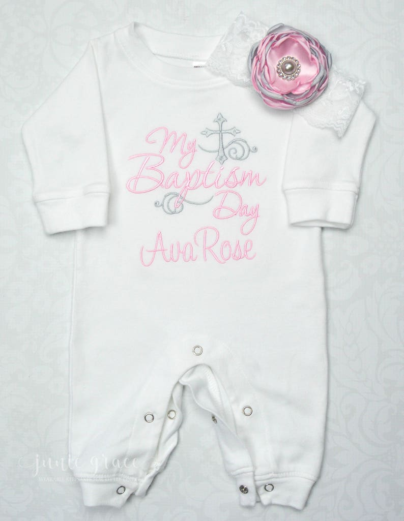 35f9b2cbbf73 Baby Girl Baptism Outfit Baby Girl Christening Outfit Baby