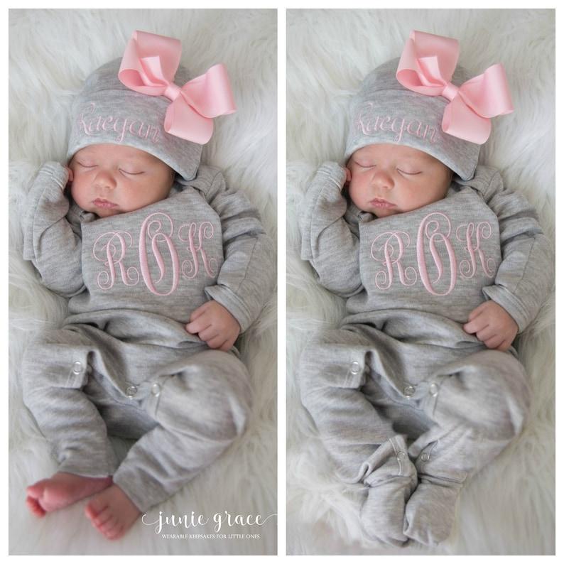 8973be3716cf7 Newborn Girl Clothes Newborn Girl Home Outfit Newborn Girl