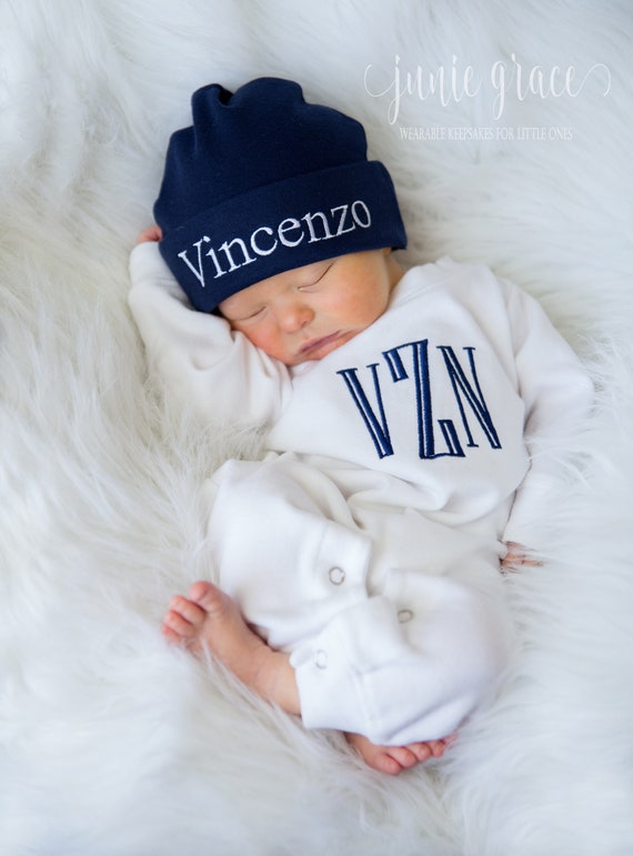 1c4994f5dc5d9 Newborn Boy Coming Home Outfit Newborn Boy Outfit Monogrammed