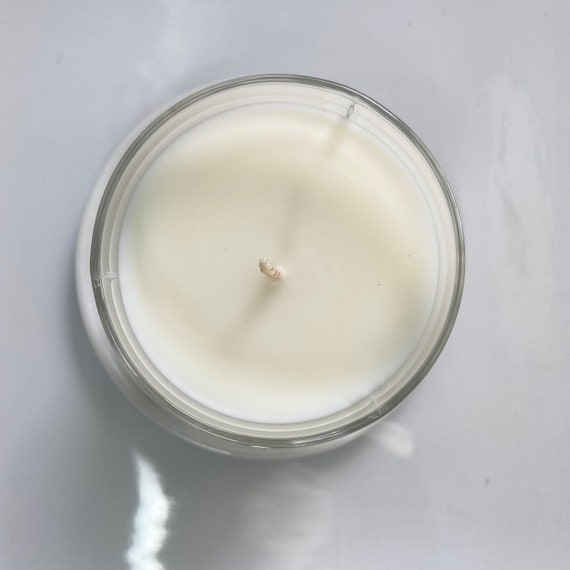 Sweet Basil Lemon Essential Oil /& Coconut Wax Candle In Waterford Crystal