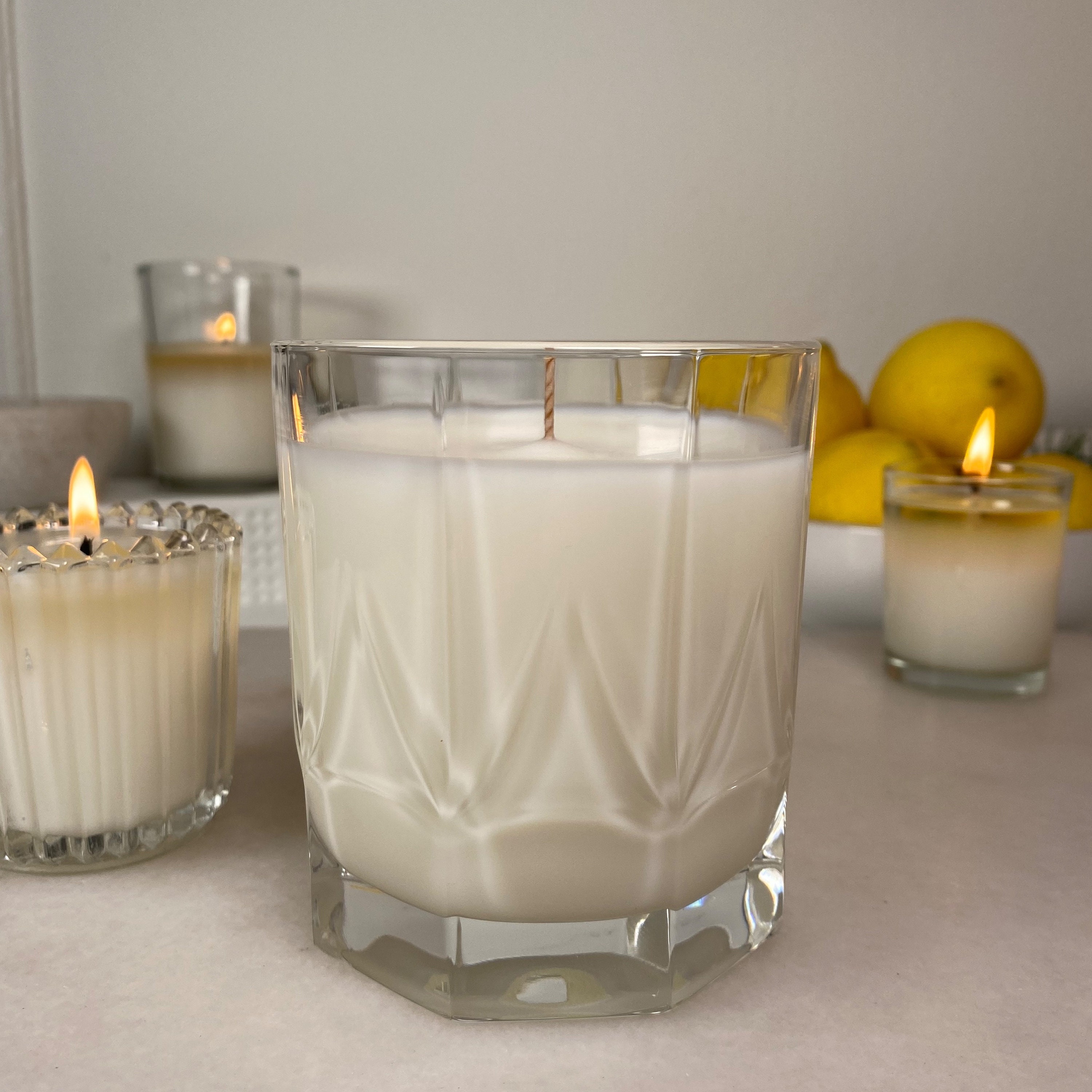 Essential Oil & Coconut Wax Candle In Italian Crystal
