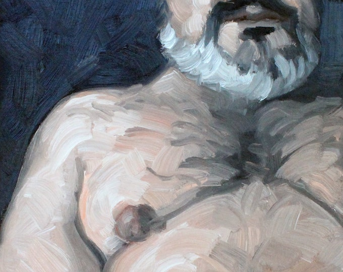 Snuggler, oil on canvas panel 8x10 inches by KennEy Mencher