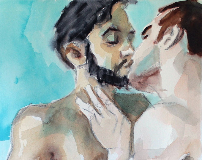 Print Poster, Two Young Men Making Love, by Kenney Mencher