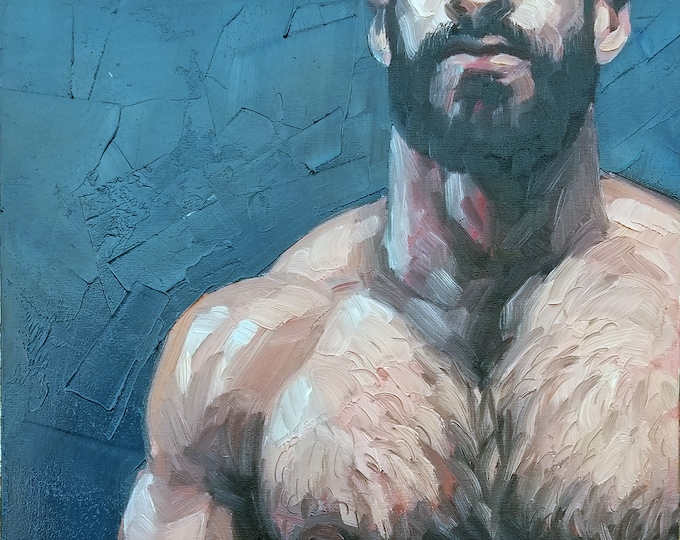 Poster Print, Hairy Hunk, by Kenney Mencher