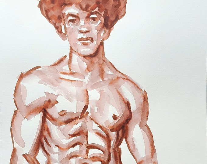 Fro, watercolor on sketchbook paper 9x12 inches by Kenney Mencher