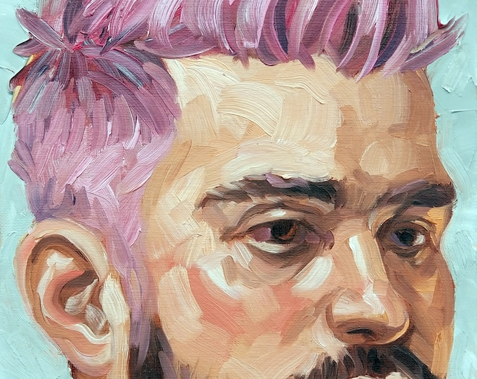 Pinky with a Goatee, 11x14 inches oil on canvas panel by Kenney Mencher