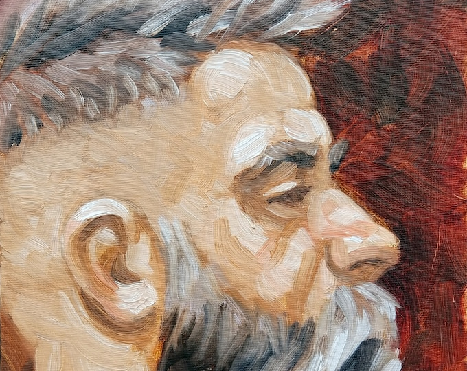 Bushman, 8x10 inches, oil on canvas panel, by Kenney Mencher