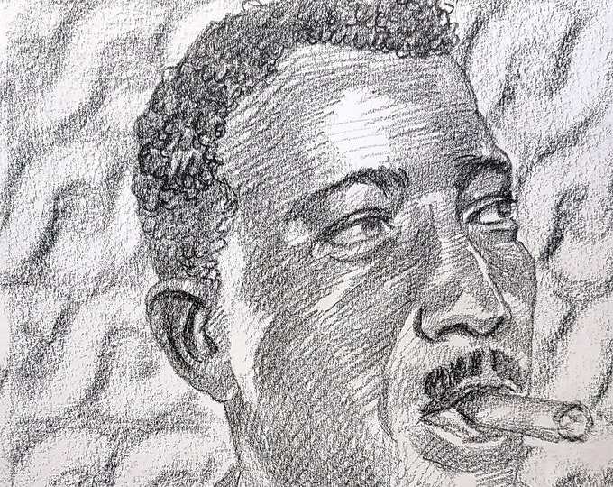 Monty Christo, crayon on paper 9x12 inches by Kenney Mencher