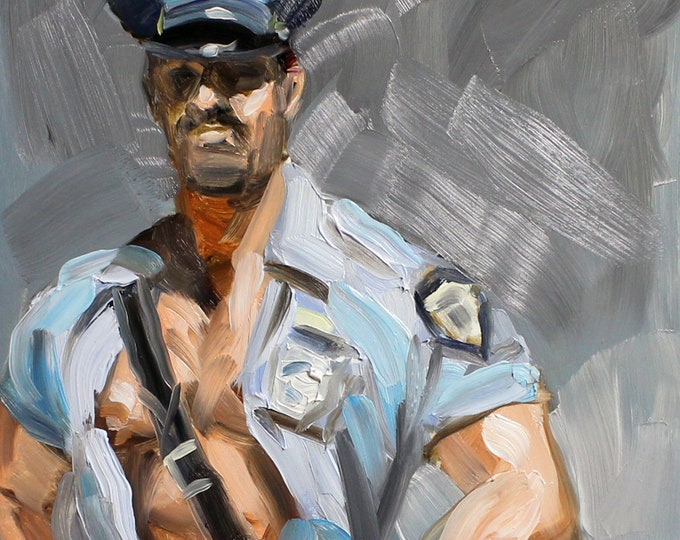 Poster Print, Hot Cop, by Kenney Mencher