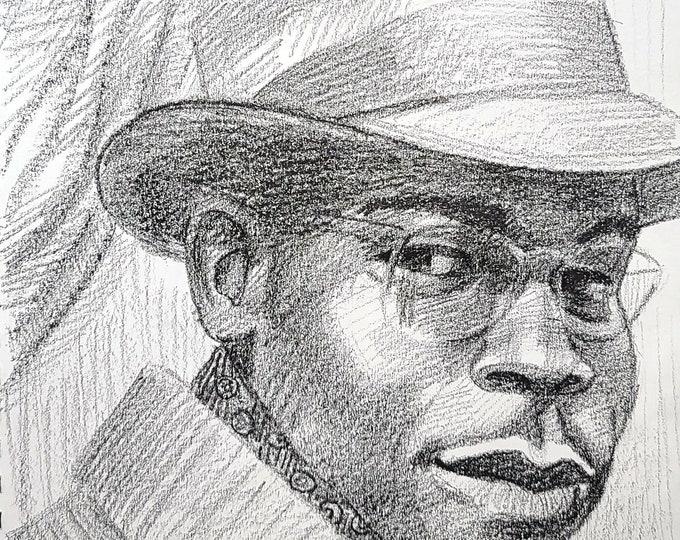 Everyday Hero, crayon on paper 9x12 inches by Kenney Mencher