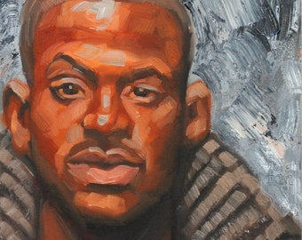 Beautiful Man, oil on canvas panel, 12x12 inches by Kenney Mencher