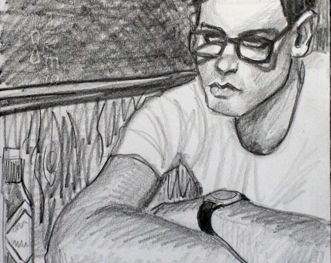Greasy Spoon, graphite on paper 9x12 inches by Kenney Mencher
