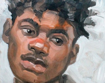 A Young Person in Their 20s, oil on canvas panel 8x10 inches by KennEy Mencher
