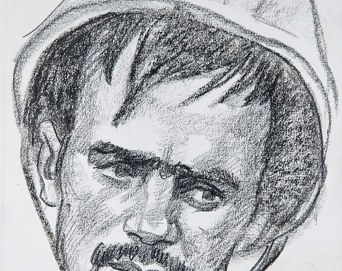 Soldier(2nd version) 9x12 inches crayon on paper by Kenney Mencher