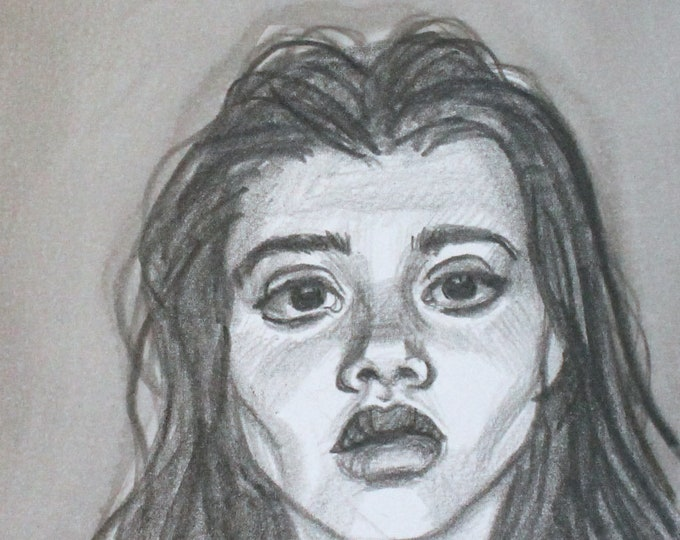 Impassive, graphite on cotton paper, 6x9 inches  by KennEy Mencher