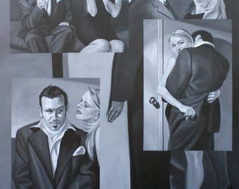 The Aristocrats, oil on stretched canvas 48x60 inches by Kenney Mencher