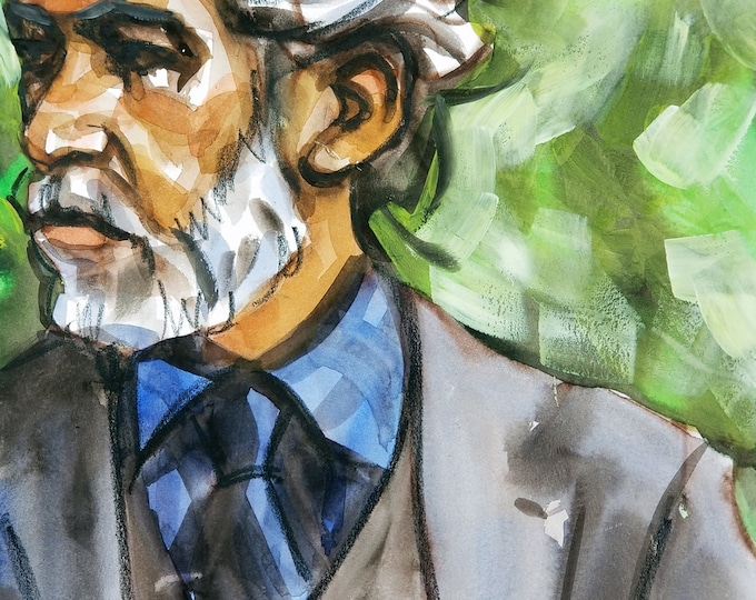 Poster Print, Well Dressed Gray Bearded Dandy in the Park, by Kenney Mencher