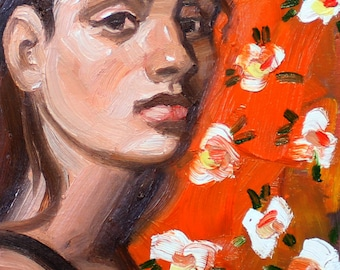 The Way I Remember Her, 9x12 inches by Kenney Mencher