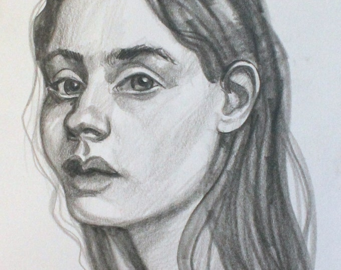 I Do Not Know What She Saw in Me, graphite on cotton paper, 9x12 inches  by KennEy Mencher