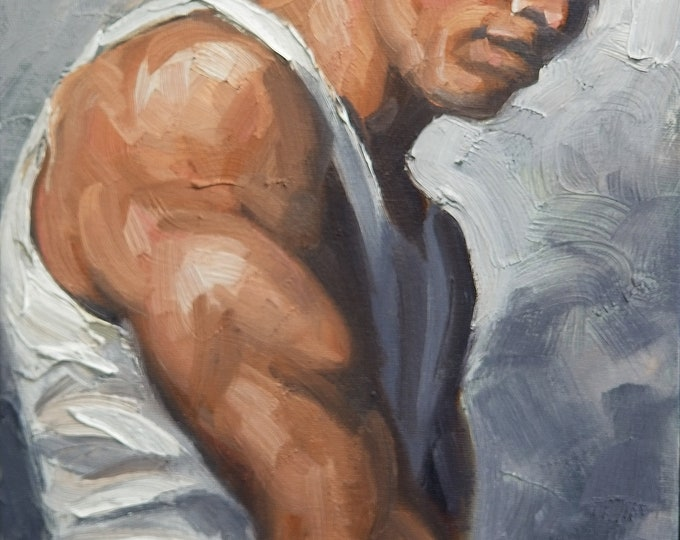 Tough Guy, 11x14 inches oil on canvas panel by Kenney Mencher