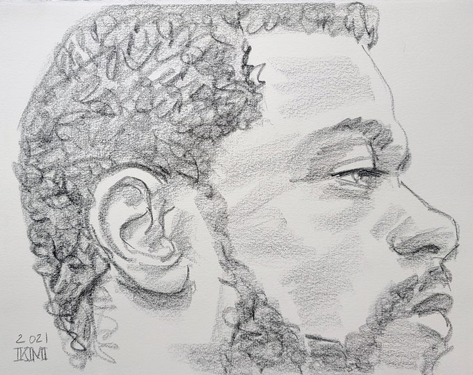 His Life Matters to Me,  11x14 inches crayon on Rives BFK paper by Kenney Mencher