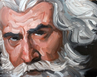 Hi Ho Silver Fox, oil on canvas panel, 8x10 inches by Kenney Mencher