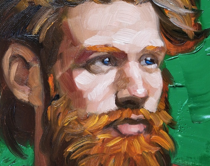 Poster Print, Young Ginger Bearded God, by Kenney Mencher