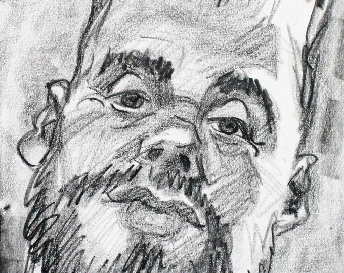 He was Delighted and Disgusted by His Experience, crayon on cotton paper, 9x12 inches by KennEy Mencher
