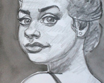 Not Your Little Sister, graphite on cotton paper, 6x9 inches  by KennEy Mencher