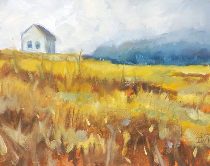 Landscape, oil on canvas panel 11x14 inches by Kenney Mencher