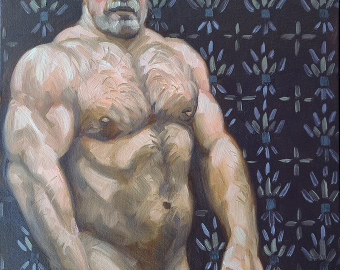 Wrought Iron Daddy, 18x24 inches oil on canvas panel by Kenney Mencher in collaboration with photographer Vincent Keith