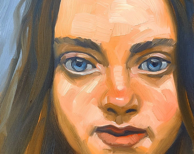 Dreamer, 9x12 inches oil on canvas panel by Kenney Mencher