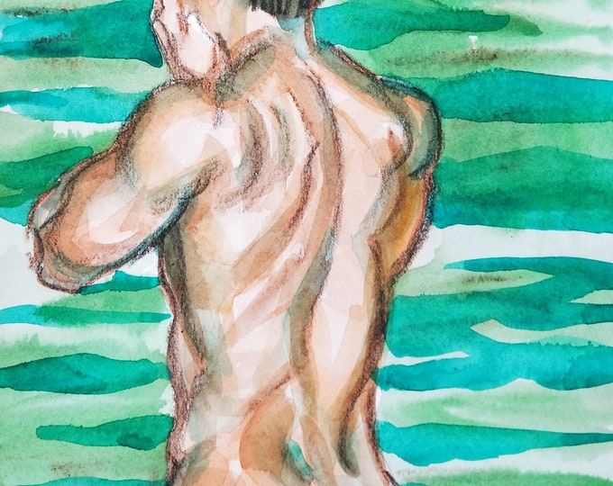 Poster Print, Bather, by Kenney Mencher