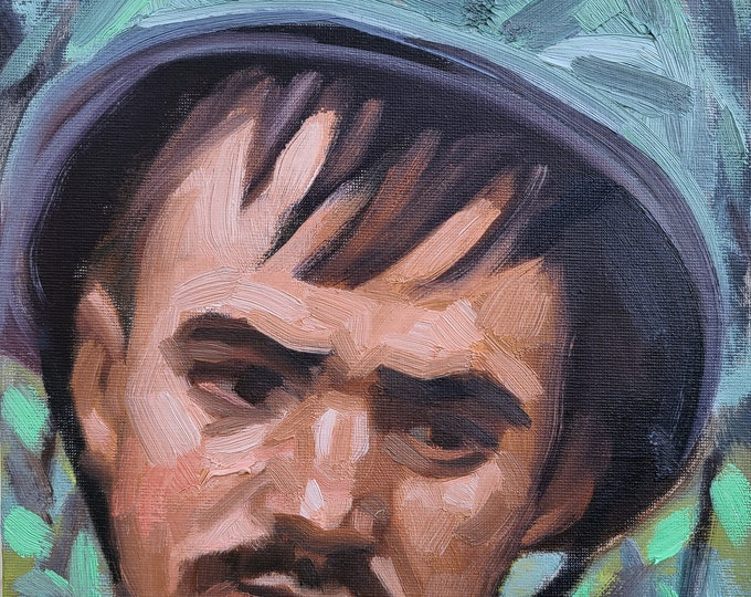 Soldier, 10x8 inches oil paint on canvas panel by Kenney Mencher